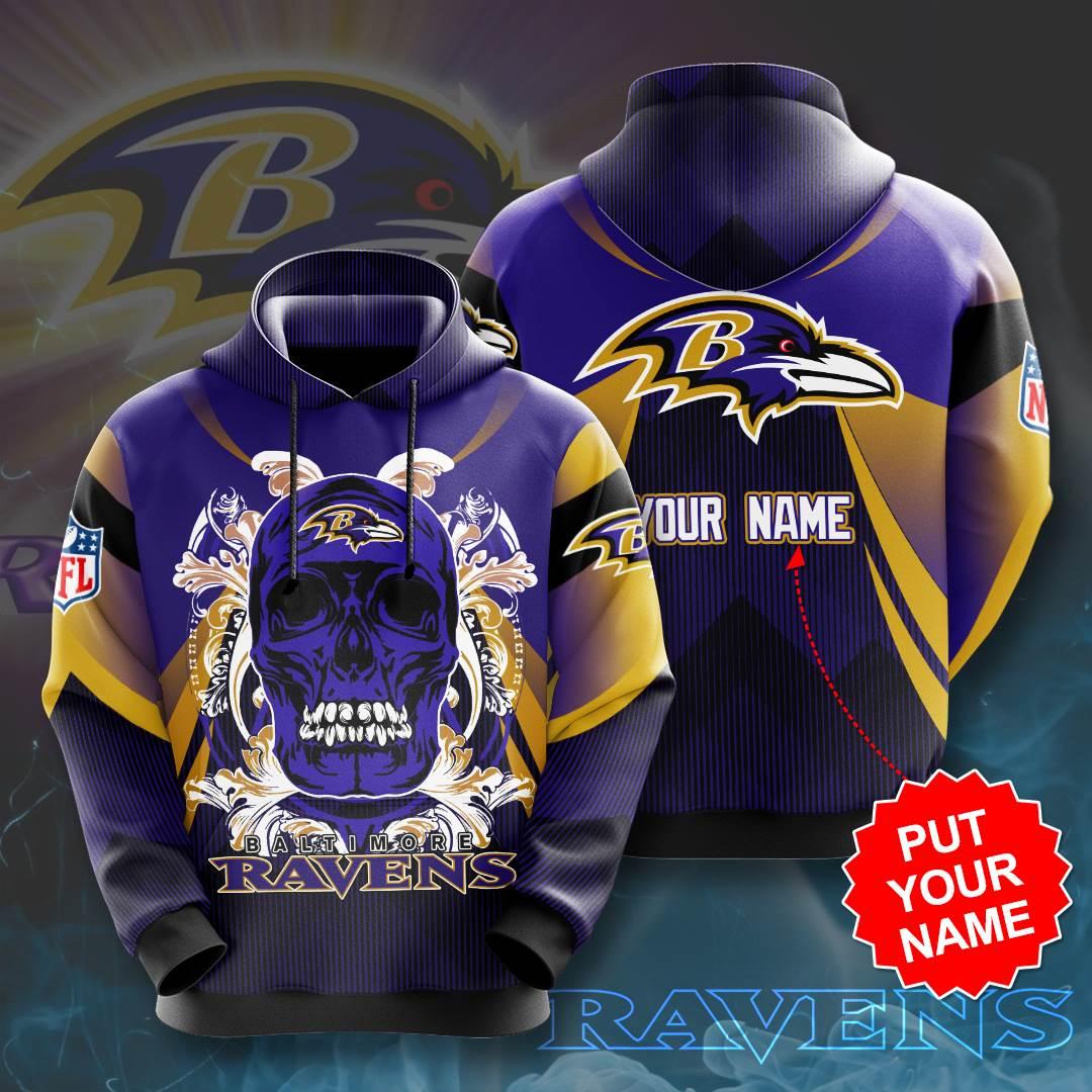 Personalized Baltimore Ravens No178 Custom Hoodie 3D