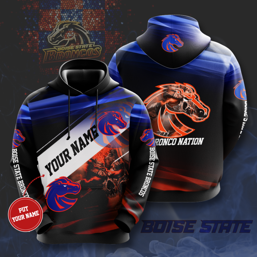 Personalized Boise State Broncos No213 Custom Hoodie 3D