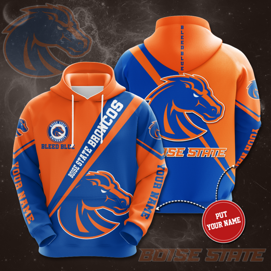 Personalized Boise State Broncos No214 Custom Hoodie 3D