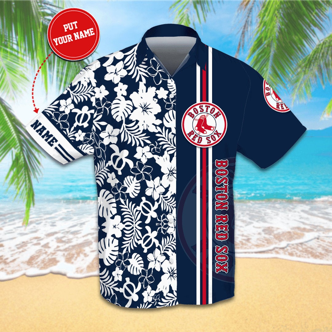 Personalized Boston Red Sox Hawaiian shirts