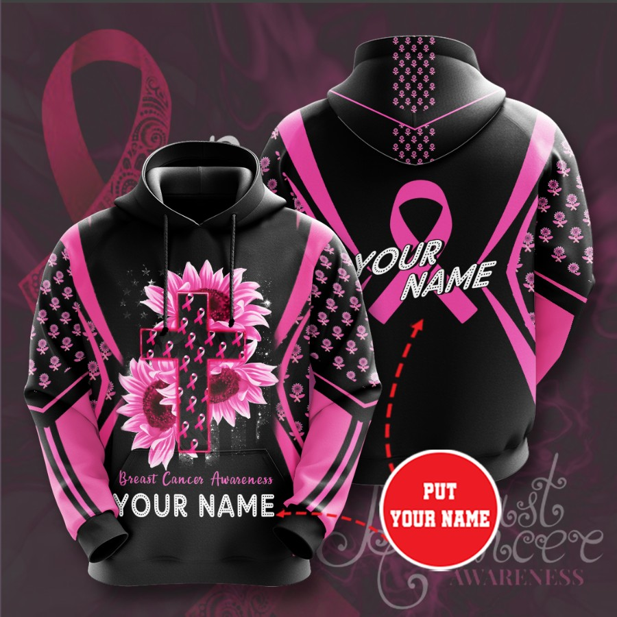 Personalized Breast Cancer Awareness No241 Custom Hoodie 3D