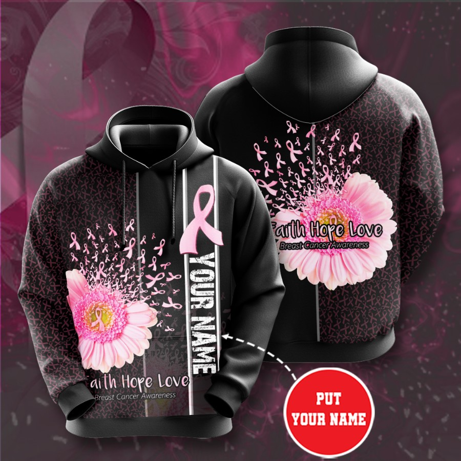Personalized Breast Cancer Awareness No243 Custom Hoodie 3D