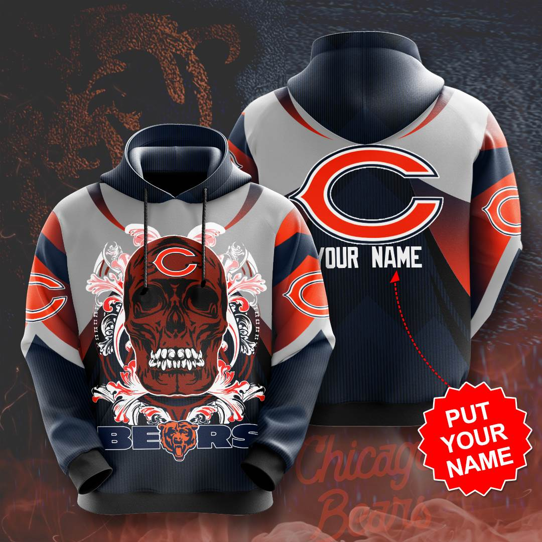 Personalized Chicago Bears No344 Custom Hoodie 3D