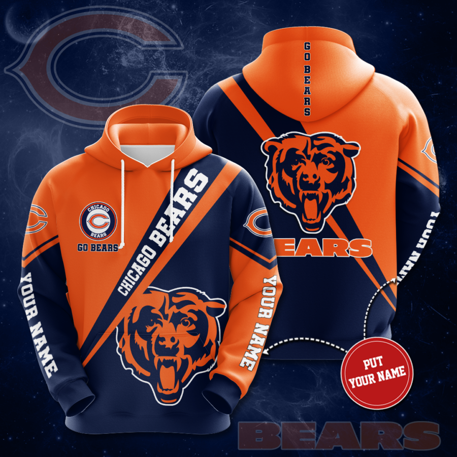 Personalized Chicago Bears No345 Custom Hoodie 3D