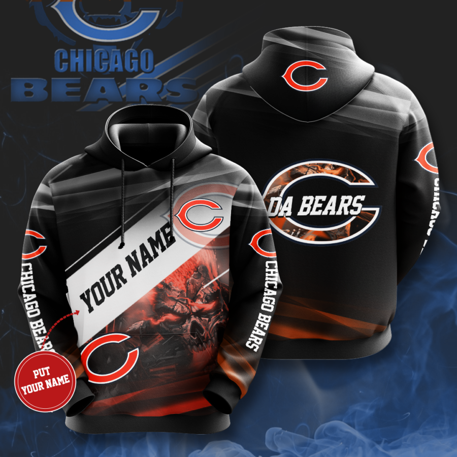 Personalized Chicago Bears No346 Custom Hoodie 3D