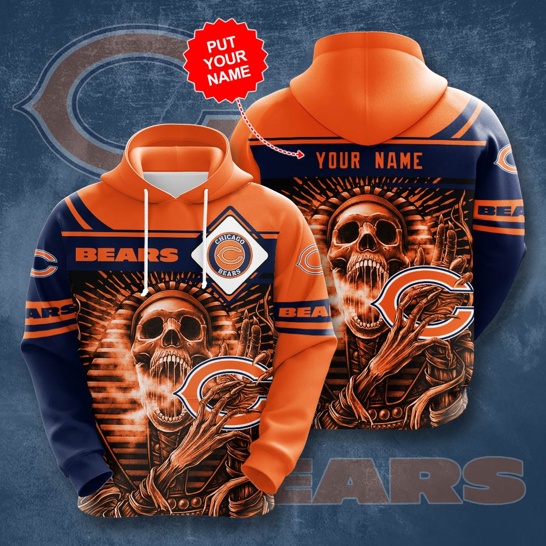 Personalized Chicago Bears No347 Custom Hoodie 3D