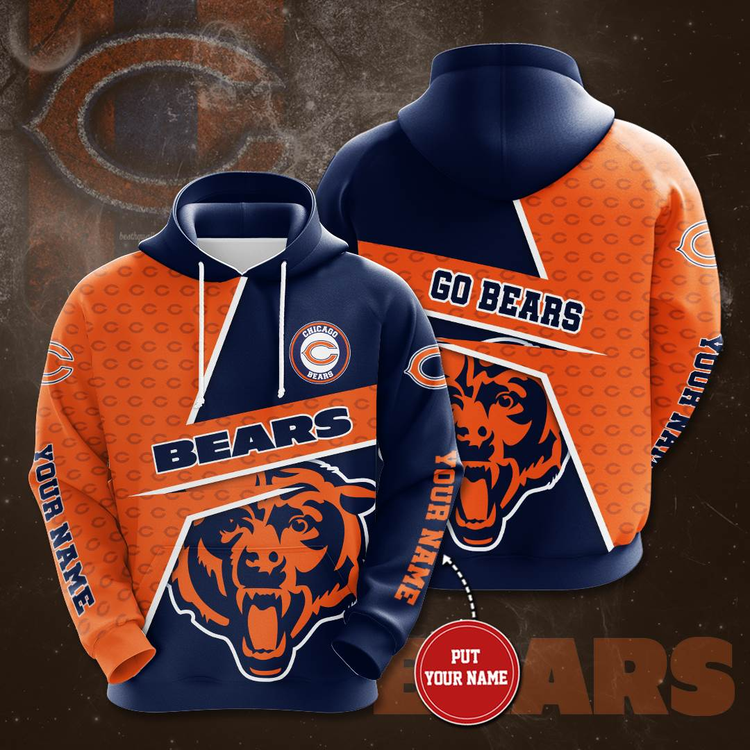 Personalized Chicago Bears No348 Custom Hoodie 3D