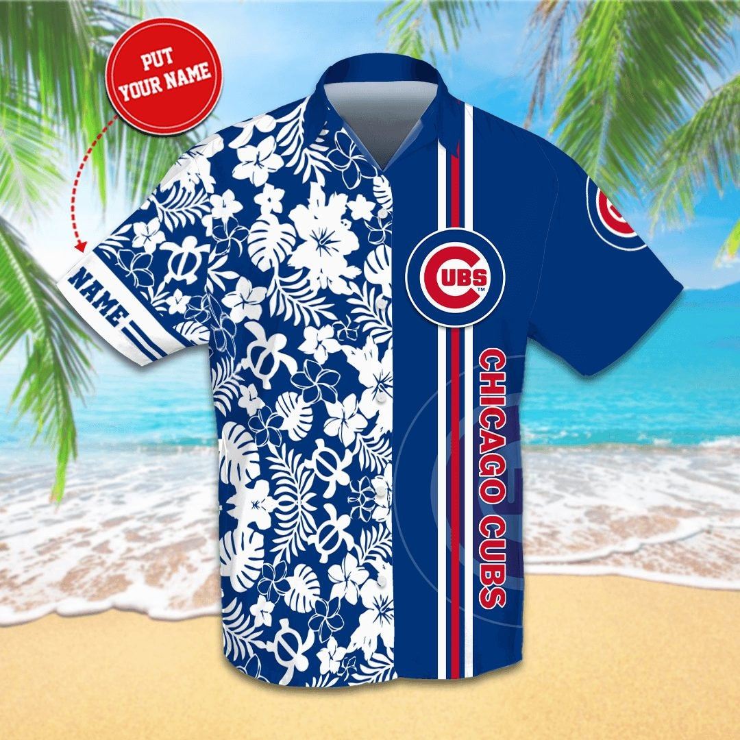 Personalized Chicago Cubs Hawaiian shirts