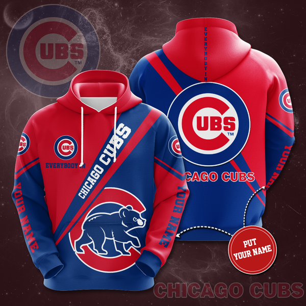 Personalized Chicago Cubs No360 Custom Hoodie 3D