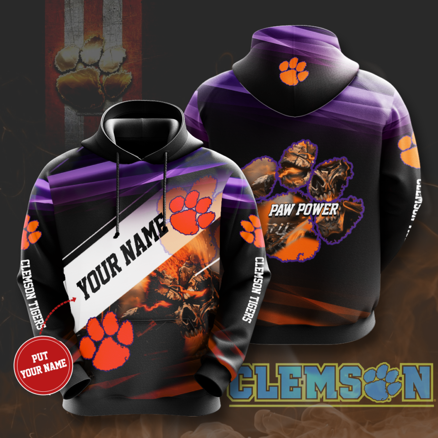 Personalized Clemson Tigers No437 Custom Hoodie 3D