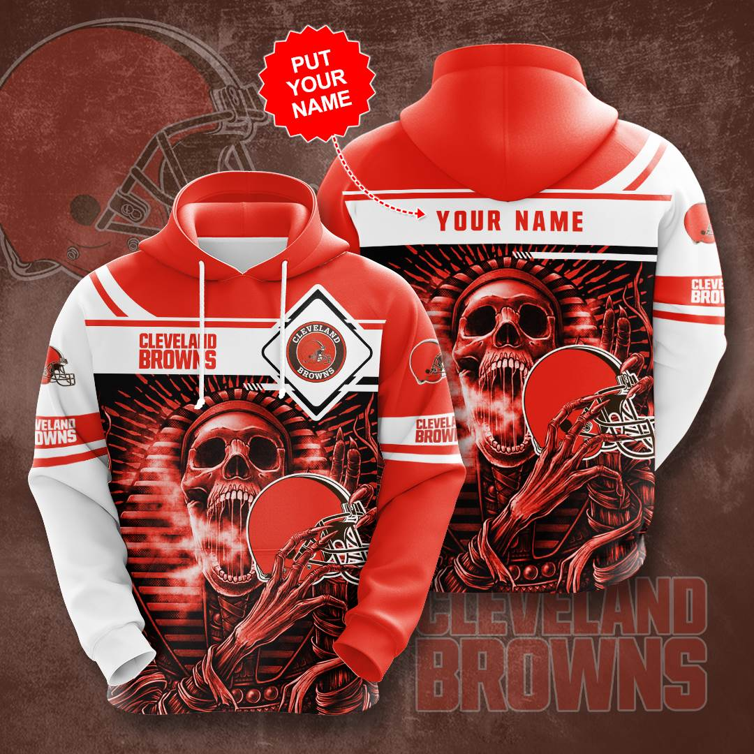 Personalized Cleveland Browns No458 Custom Hoodie 3D
