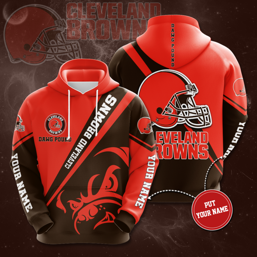 Personalized Cleveland Browns No460 Custom Hoodie 3D