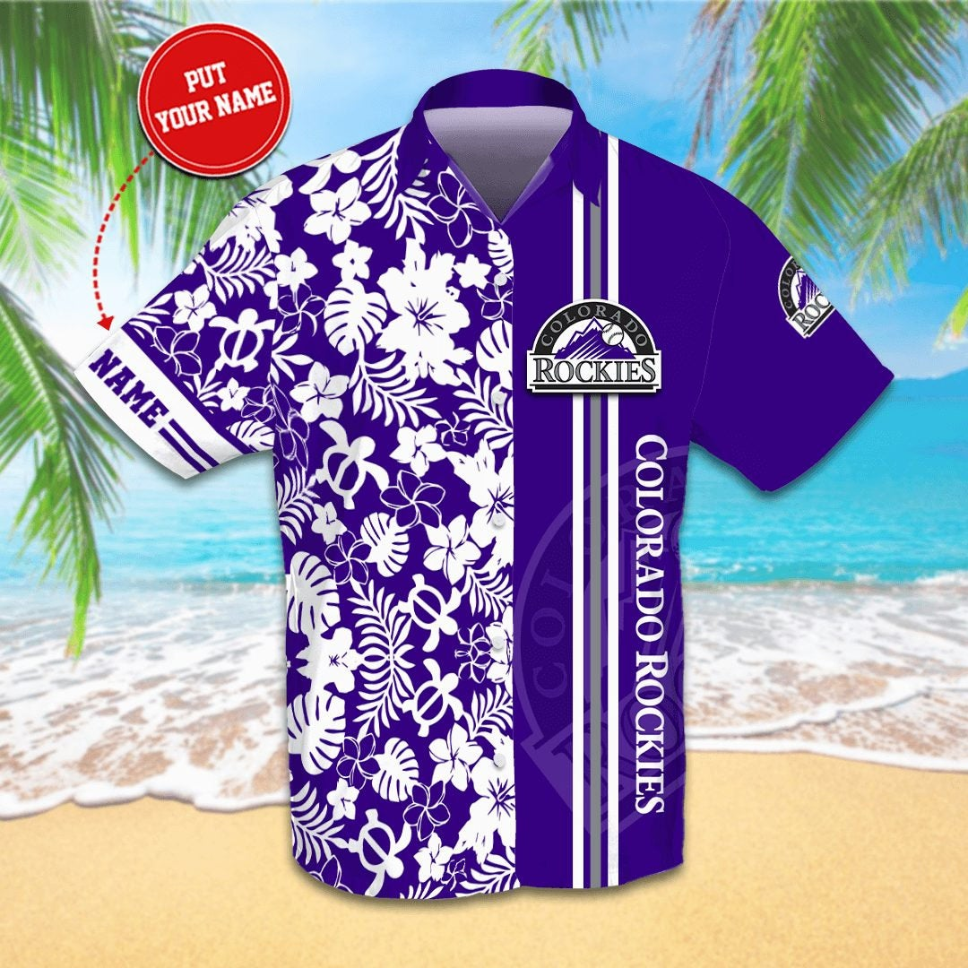 Personalized Colorado Rockies Hawaiian shirts