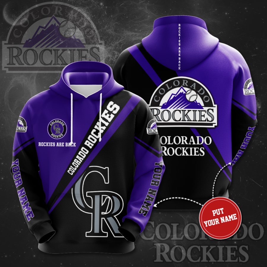 Personalized Colorado Rockies No489 Custom Hoodie 3D