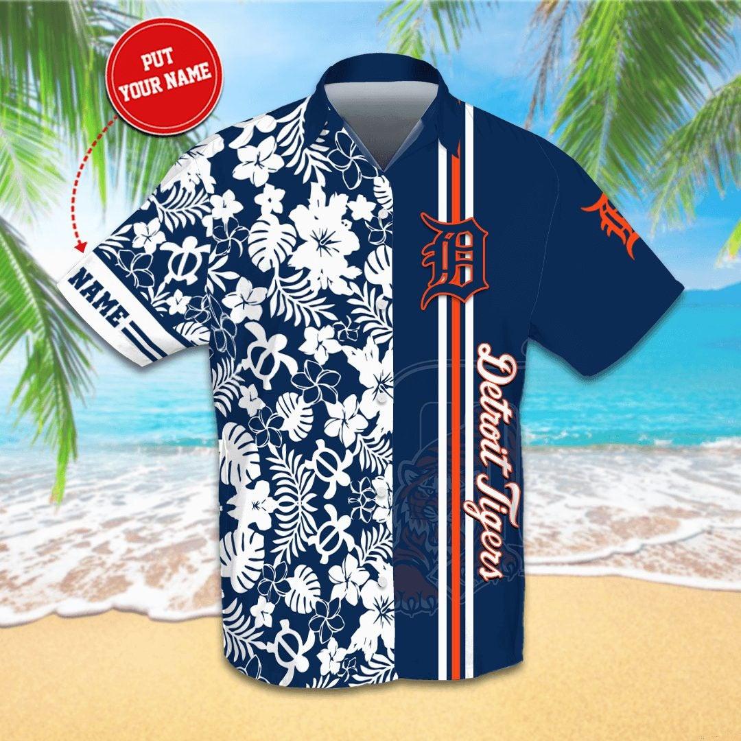 Personalized Detroit Tigers Hawaiian shirts