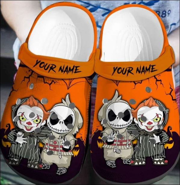 Personalized Jack Skellington And Pennywise Crocs Clog Shoes