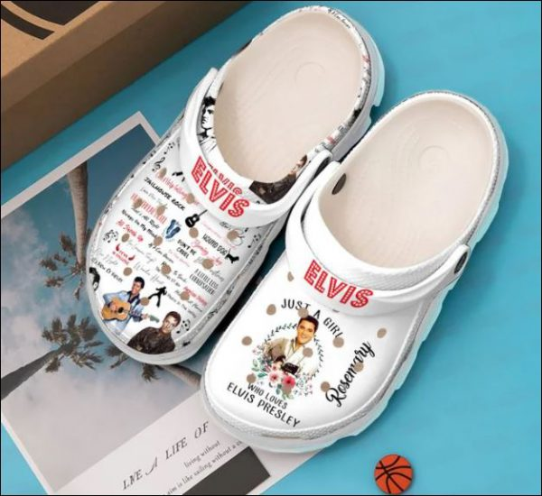 Personalized Just A Girl Who Loves Elvis Presley Crocs Clog Shoes