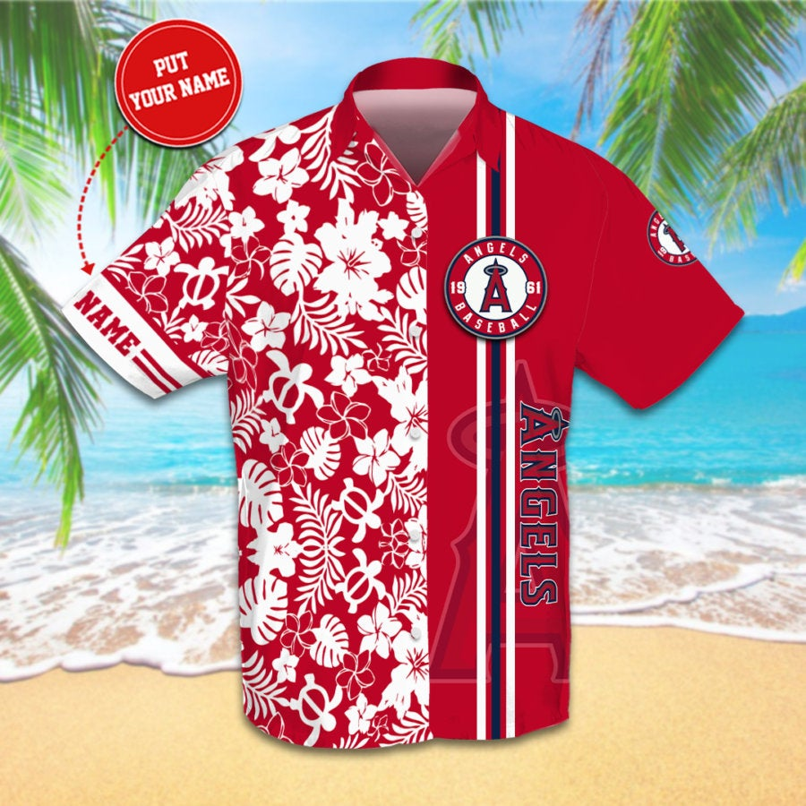 Personalized Los Angeles Angels Hawaiian shirts