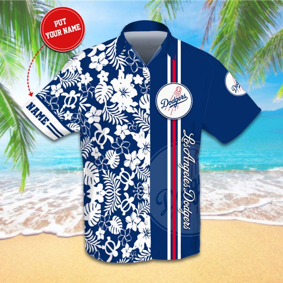 Personalized Los Angeles Dodgers Hawaiian shirts