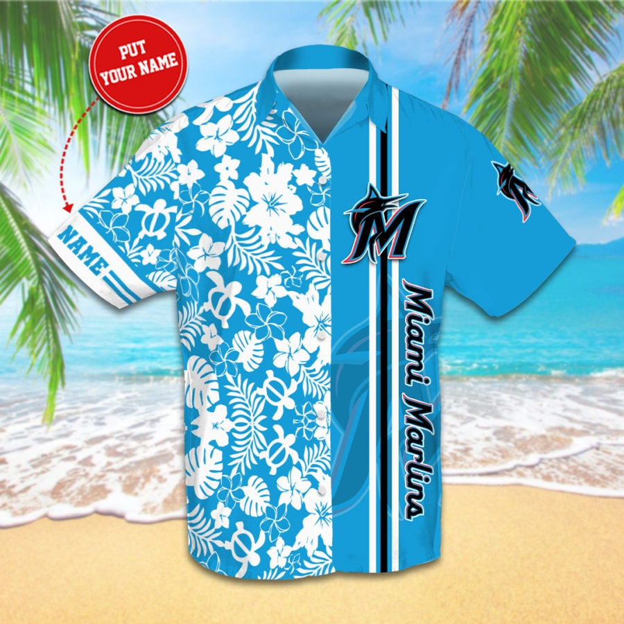 Personalized Miami Marlins Hawaiian shirts