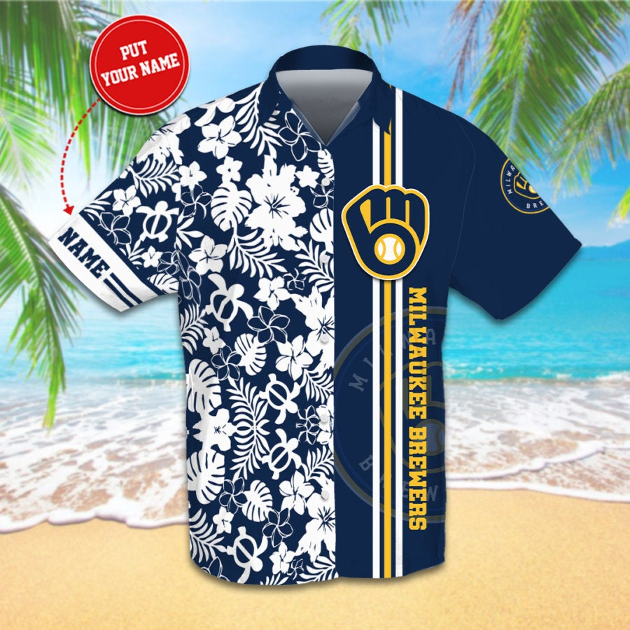 Personalized Milwaukee Brewers Hawaiian shirts