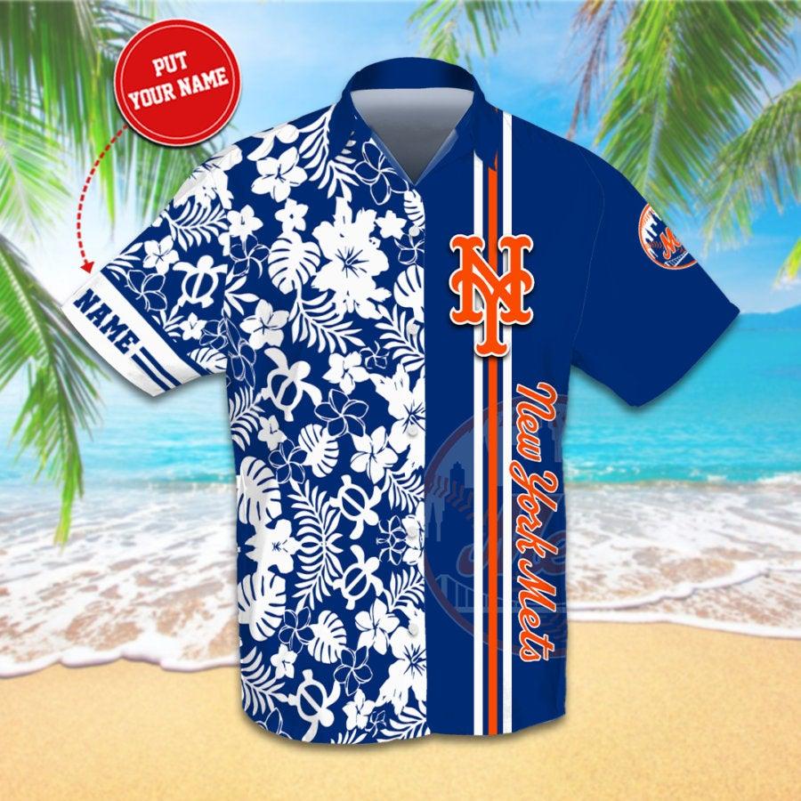 Personalized New York Mets Hawaiian shirts