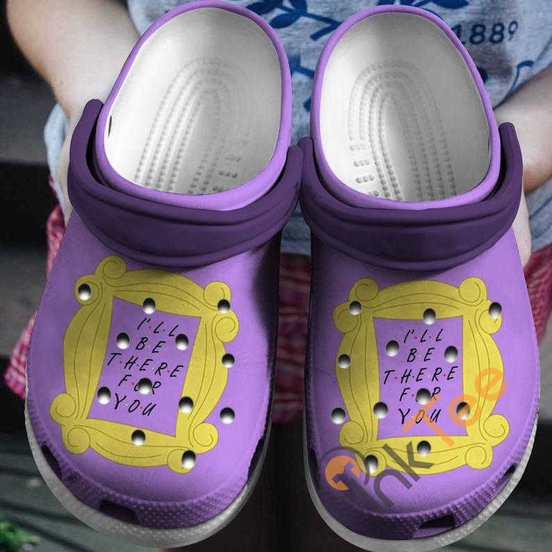 Purple I'll Be There For You Friends Movie Crocs Clog Shoes
