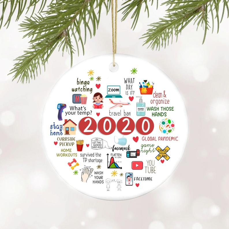 Quarantine Christmas Ornament 2020 Toilet Paper Pandemic Covid Virus No18 Personalized Gifts