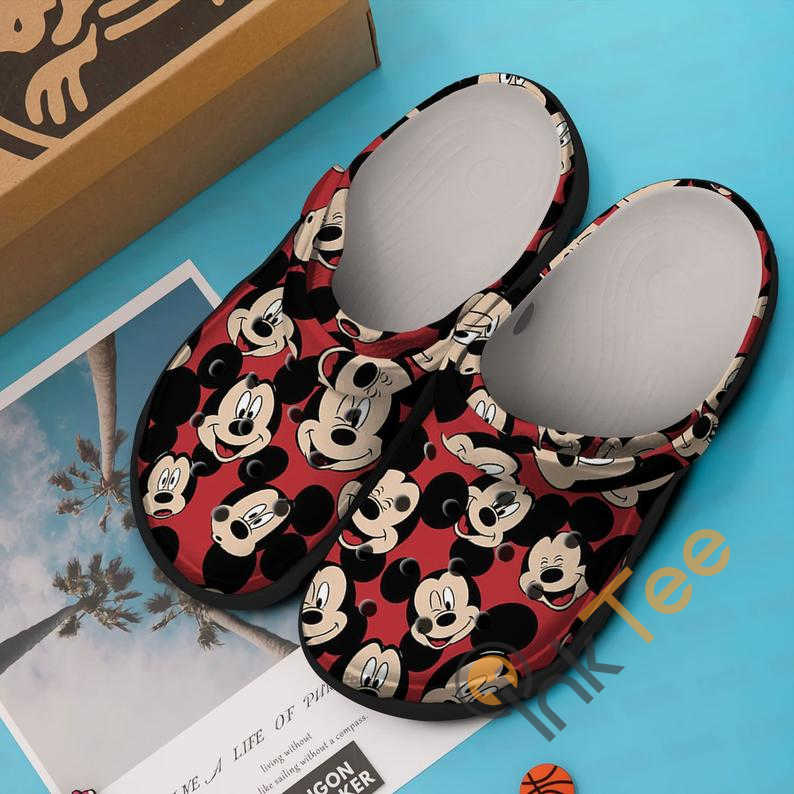 Red Mickey Mouse Crocs Clog Shoes