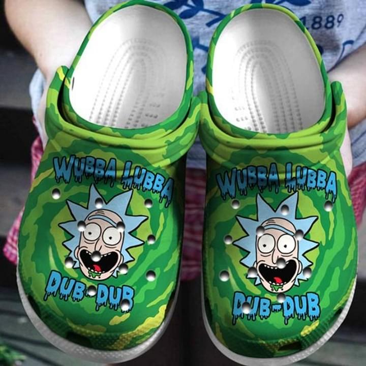 Rick Sanchez Wubba Lubba No37 Crocs Clog Shoes