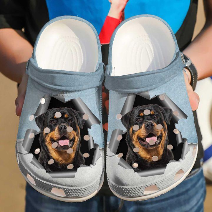 Rottweiler Hello Sku 2064 Crocs Clog Shoes