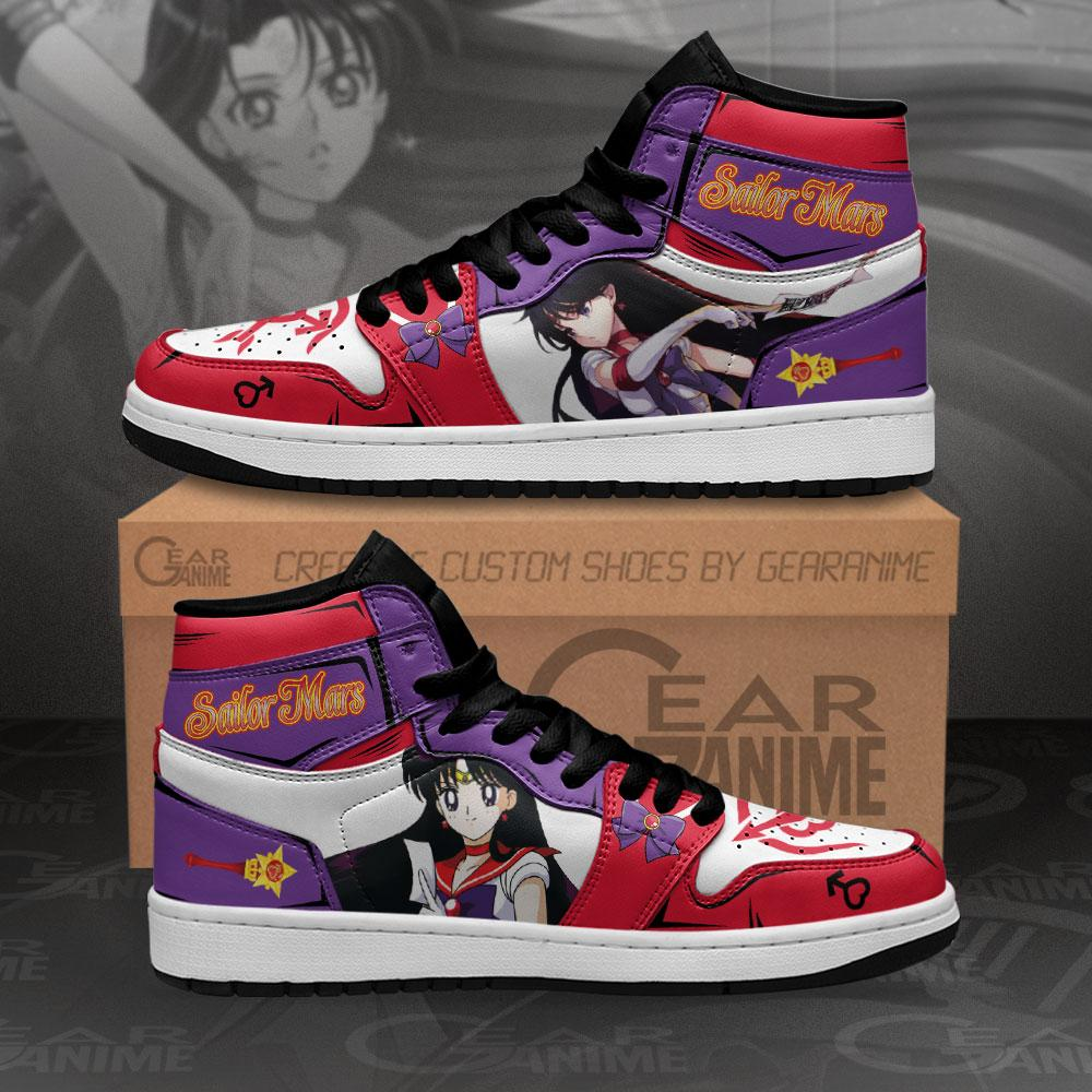Sailor Mars Sneakers Sailor Moon Anime Air Jordan Shoes