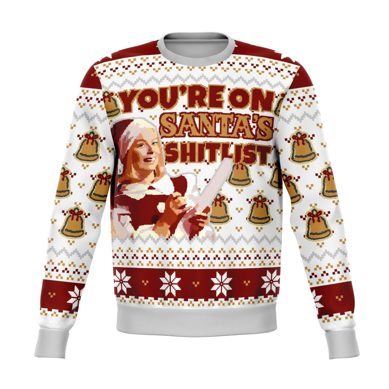 Santa Sht List Dank Ugly Sweater