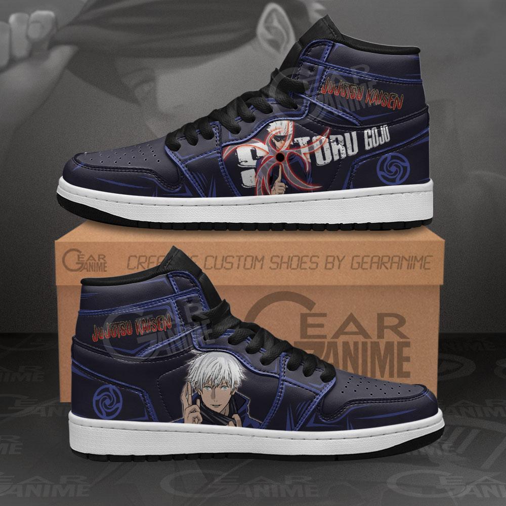 Satoru Gojo Sneakers Jujutsu Kaisen Anime Air Jordan Shoes