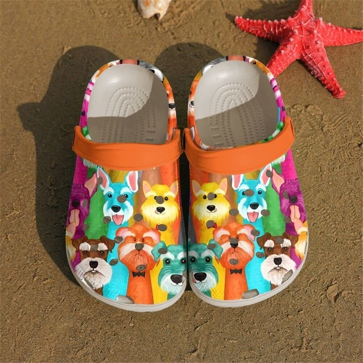 Schnauzer Doodles Sku 2075 Crocs Clog Shoes