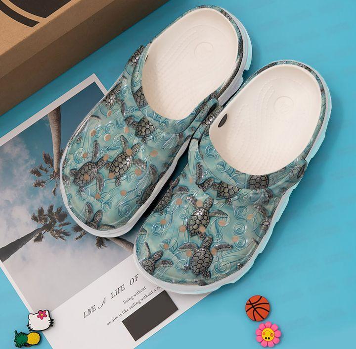 Sea Turtle Under The Sku 2115 Crocs Clog Shoes