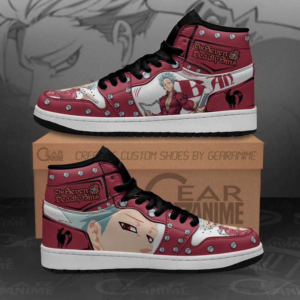 Seven Deadly Sins Ban Sneakers Custom Anime Air Jordan Shoes
