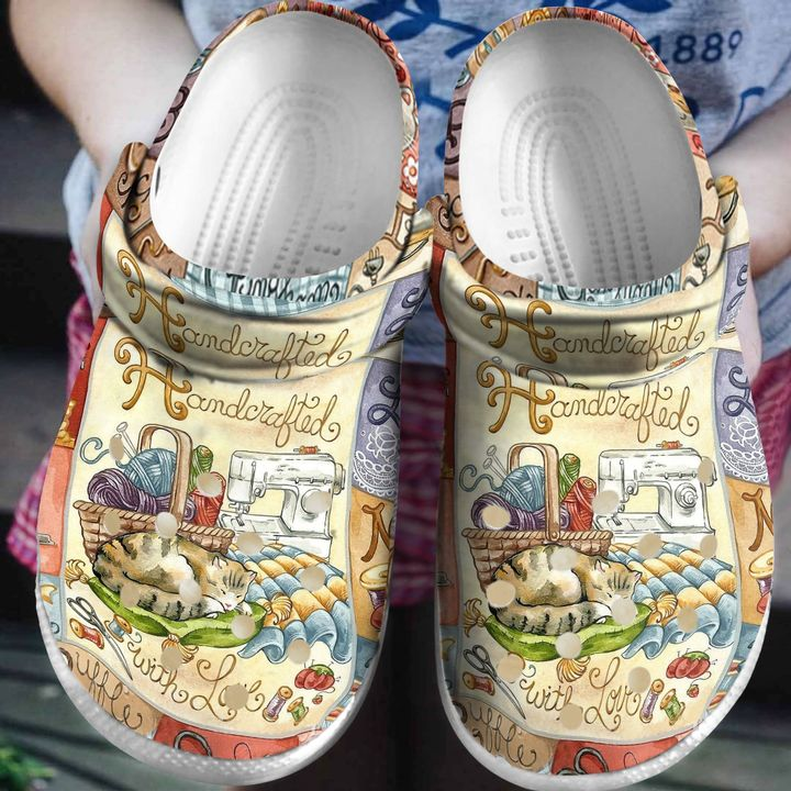 Sewing Handcrafted In Love Sku 2126 Crocs Clog Shoes