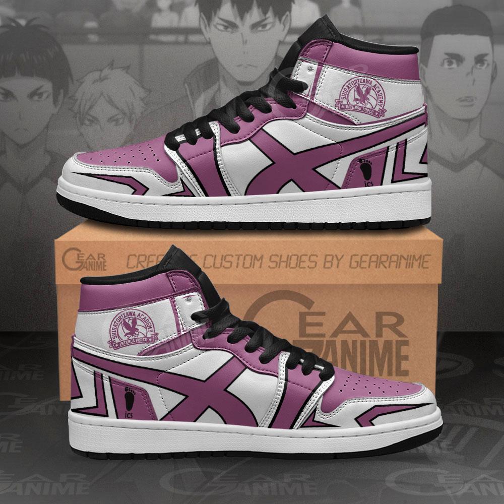 Shiratorizawa Academy Jordan Haikyuu Custom Anime Air Jordan Shoes