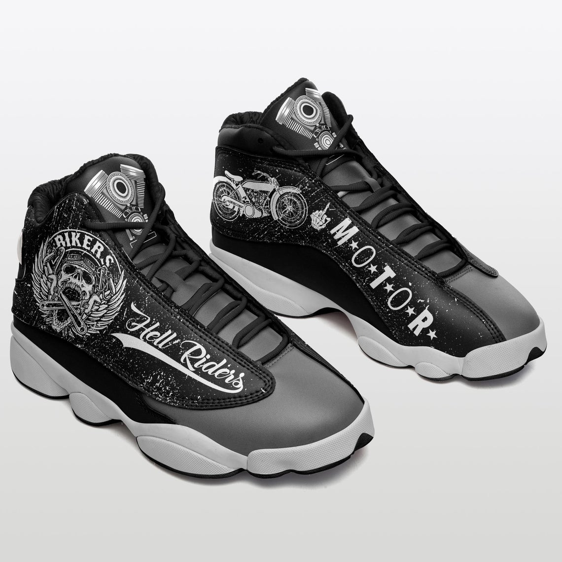 Skull Bikers Motorcycle Sku 31 Air Jordan Shoes