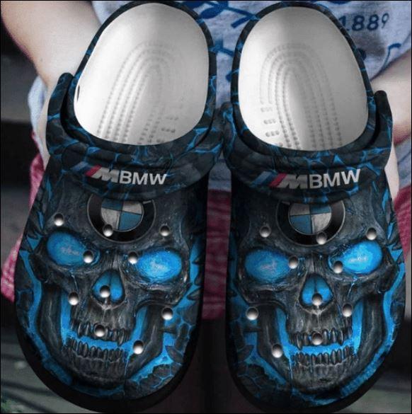 Skull Bmw Crocs Clog Shoes