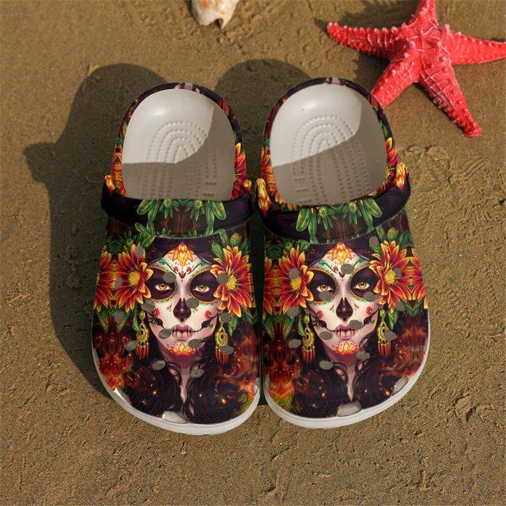 Skull Crcoband Queen Sku 2190 Crocs Clog Shoes