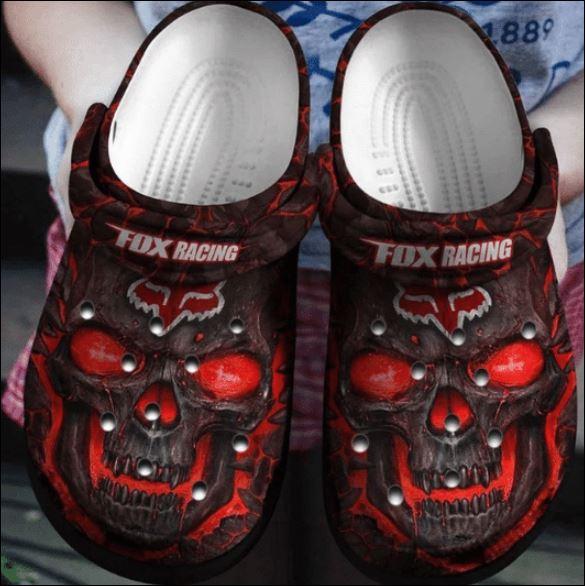 Skull Fox Racing Crocs Clog Shoes