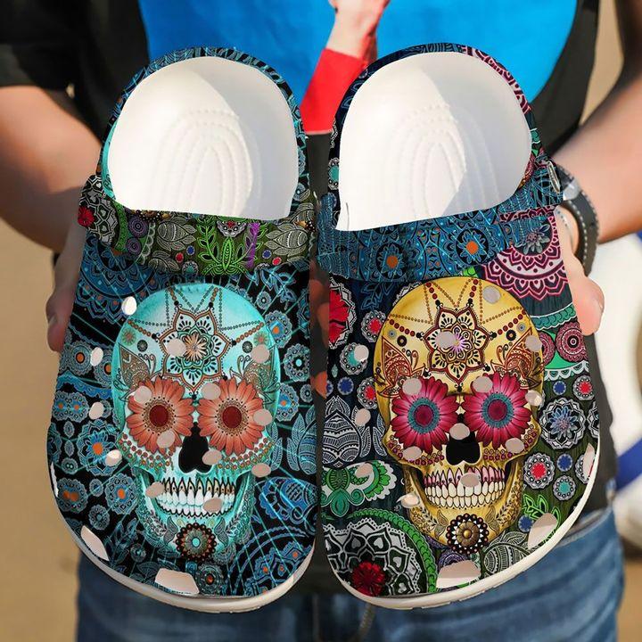 Skull Sugar Sku 2187 Crocs Clog Shoes
