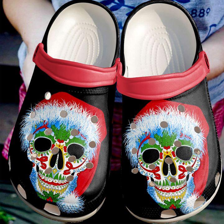 Skull Winter Christmas Sku 2189 Crocs Clog Shoes