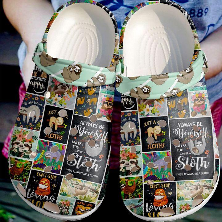 Sloth Always Be Yourself Sku 2210 Crocs Clog Shoes