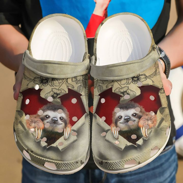 Sloth They Steal My Heart Sku 2231 Crocs Clog Shoes