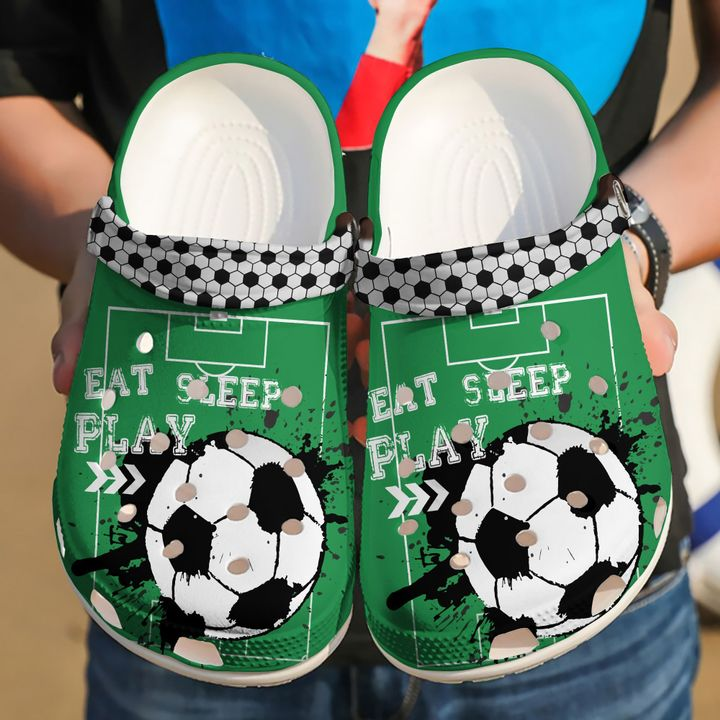 Soccer Eat Sleep Play Sku 2266 Crocs Clog Shoes