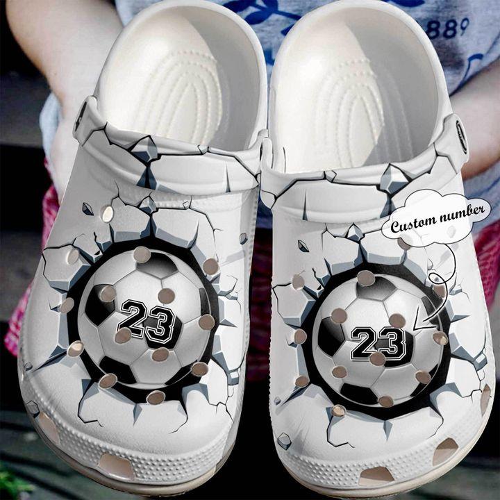 Soccer Personalized Broken Wall Sku 2247 Crocs Clog Shoes