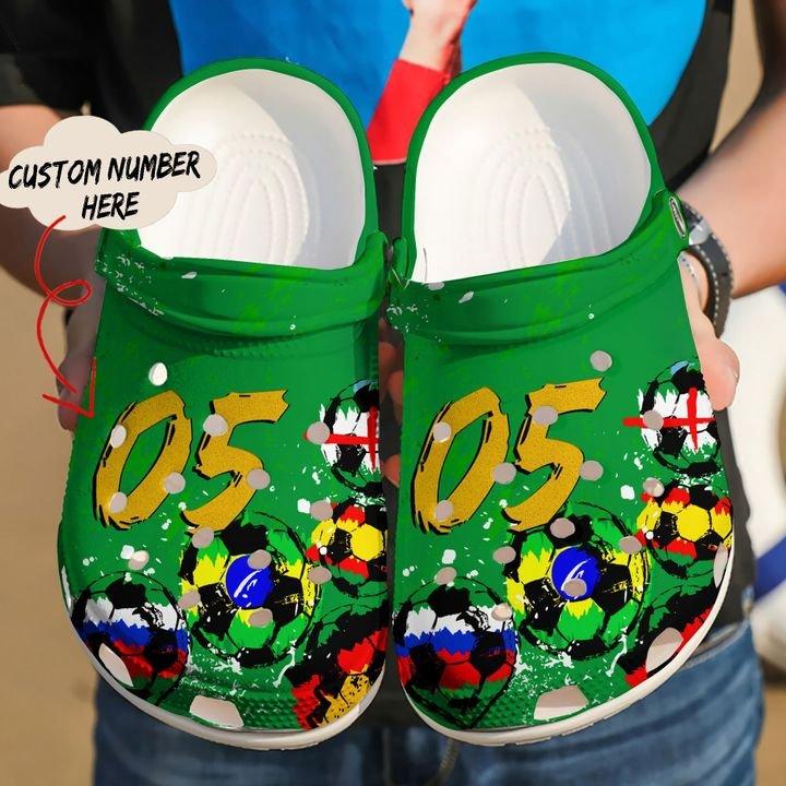 Soccer Personalized Clog Sku 2251 Crocs Clog Shoes